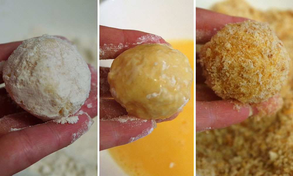 Закуска Сырные шарики во фритюре